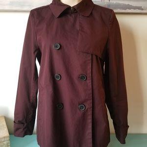 Everlane Trench Coat wine color Medium